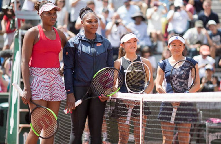 Fotografia turneului de la Roland Garros 2018: surorile Williams pareau niste giganti pe langa adversarele lor din proba de dublu