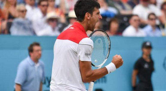 Bucuria lui Novak Djokovic după calificarea in finala de la Queen's 2018