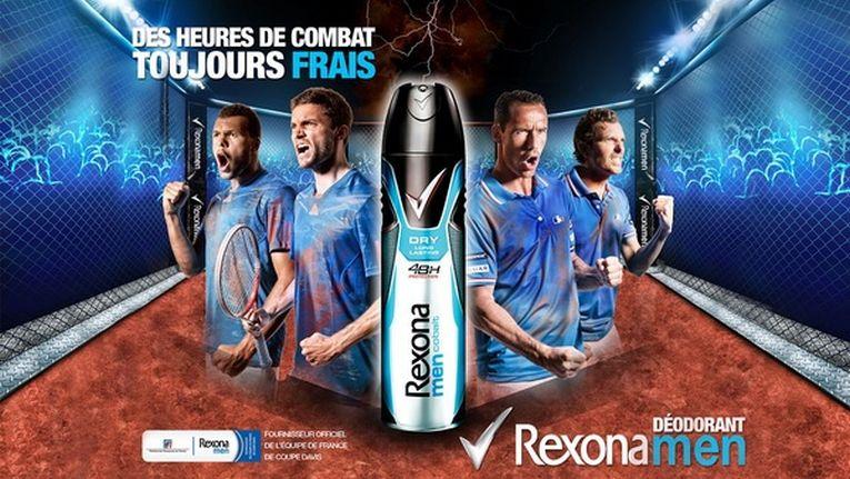 Rexona s-a implicat activ si la echipa de Cupa Davis a Frantei