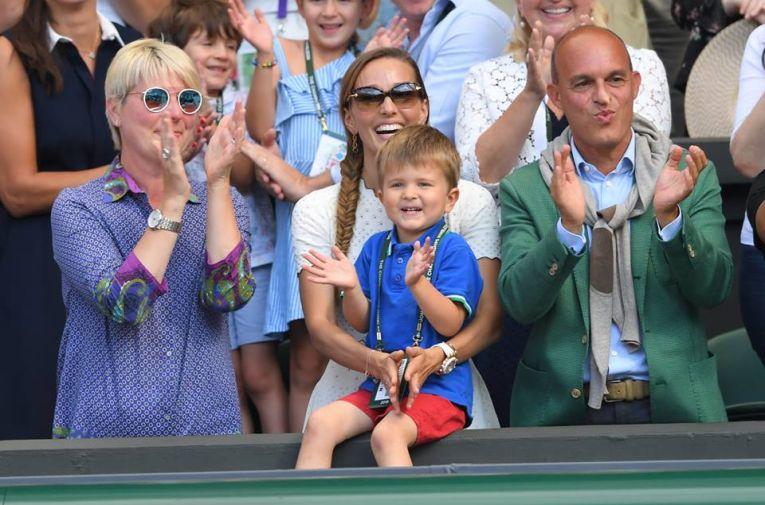 Stefan Djokovic, fiul lui Novak Djokovic, in tribuna la Wimbledon 2018