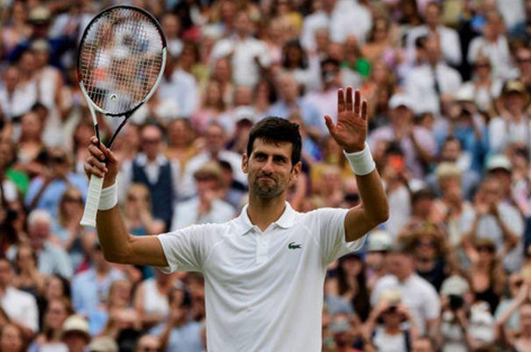 Novak Djokovic este a cincea oară în finala de la Wimbledon