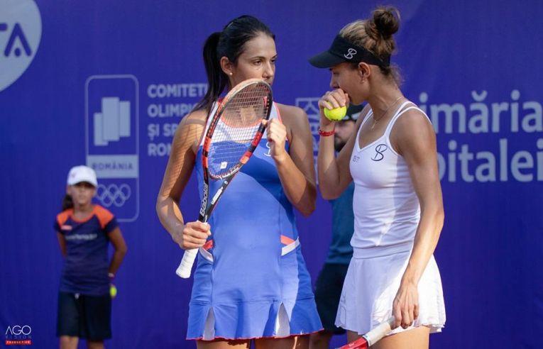 Raluca Olaru si Mihaela Buzărnescu la BRD Bucharest Open 2018