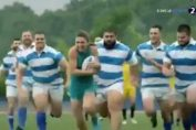 Simona halep a ajucat rugby în reclama de al Rexona