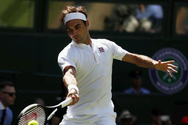 Roger Federer a jucat pentru prima dată în echipamentul Uniqlo la Wimbledon 2018
