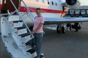 Simona Halep avion privat cincinnati