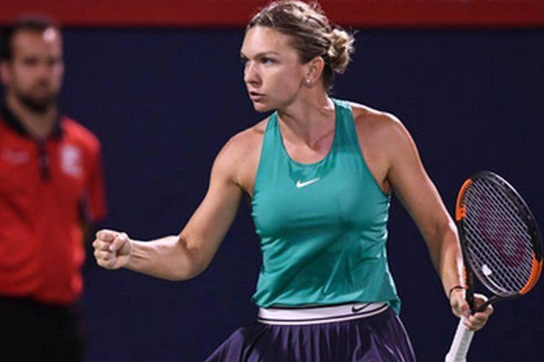 Simona Halep si bucuria victoriei la Montreal Rogers Cup 2018