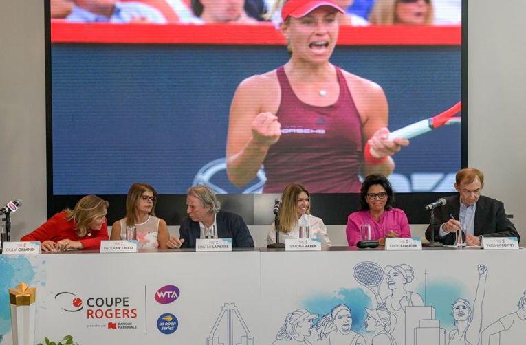 Simona Halep, la tragerea la sorti a Rogers Cup 2018