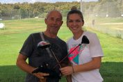 Simona Halep si Mugur Mihăescu la golf