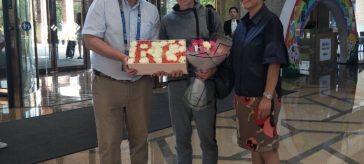 Simona Halep sosire wuhan turneu aeroport cadouri