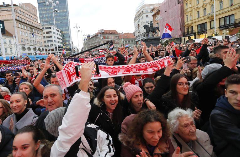 Fanii croati au iesit in piata din Zagreb pentru a-i celebra pe campionii Cupei Davis 2018