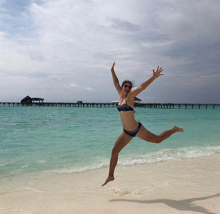 Irina Begu, in culmea fericirii in Maldive