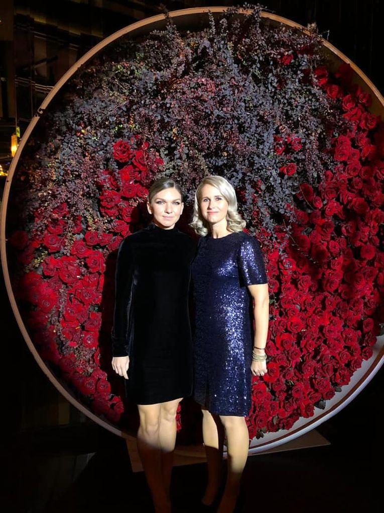 Alina Tecșor, alături de Simona Halep