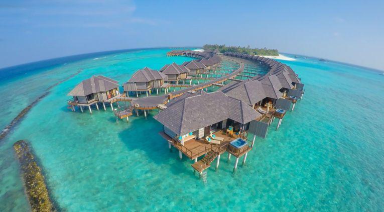 Complexul de casute din resortul din Maldive
