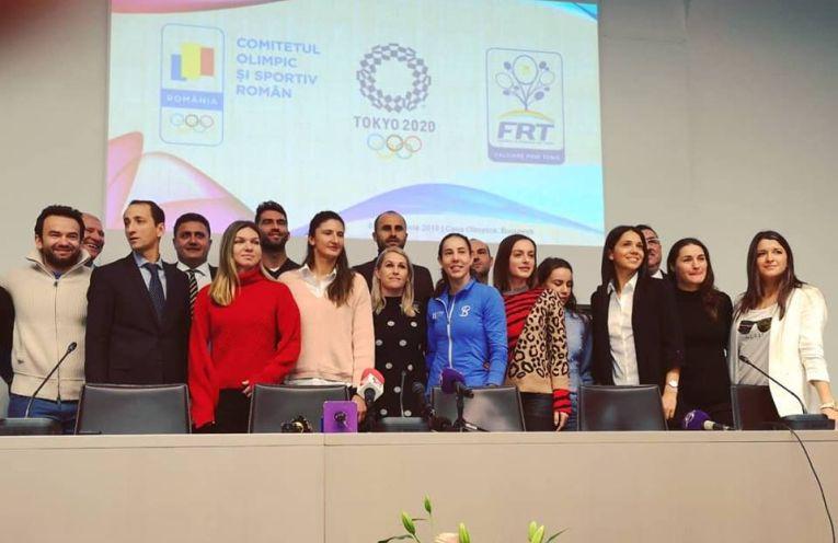 Lotul Olimpic de Tenis al Romaniei, la prezentarea oficială