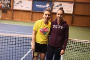 Simona Halep si Mihaela Buzarnescu dupa antrenament