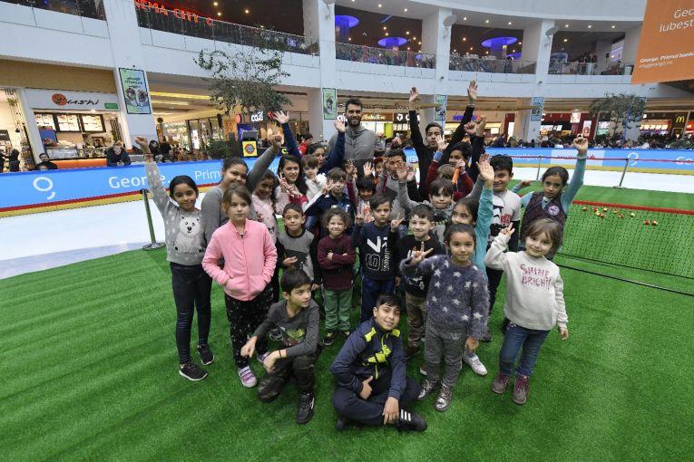 Horia Tecau, alaturi de copiii de la Kid's Day