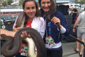 Irina Bara și Monica Niculescu, alaturi de sarpele norocos de la Australian Open 2019
