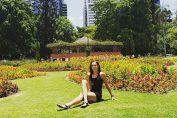 Mihaela Buzărnescu, la Grădina Botanică din Brisbane