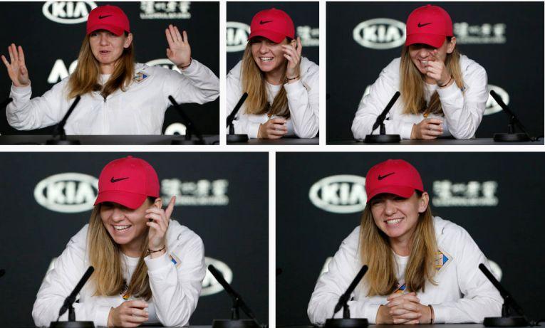 Simona halep foarte vesela la conferinta de presa de la Australian Open 2019