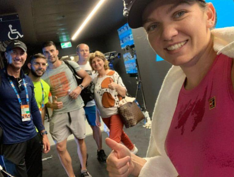 Simona Halep alaturi de Darren Cahill antrenorul din umbra la Australian Open