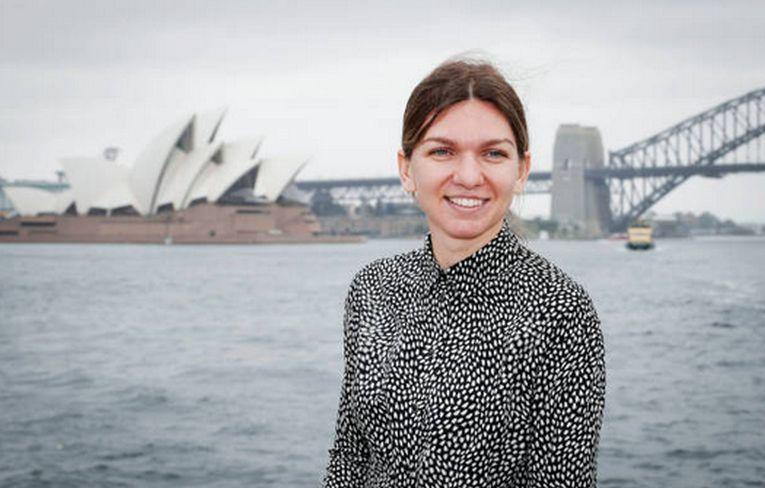 Simona Halep, surazatoare, la Sydney