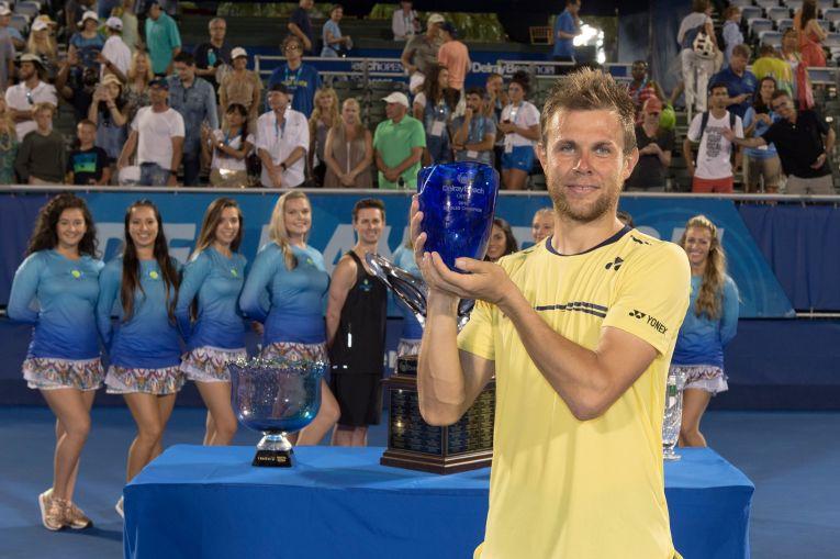 Radu Albot e primul tenismen moldovean campion in ATP, la Delray Beach