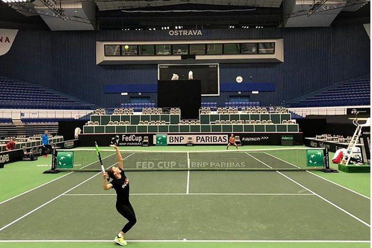 Simona Halep s-a antrenat la Ostrava