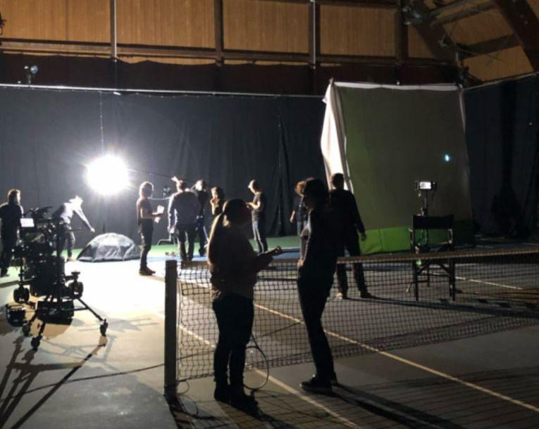 Sala de la Izvorani s-a transformat in platou de filmare pentru cateva ore