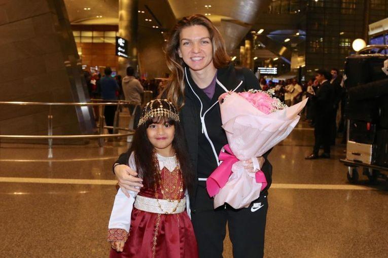 Simona Halep a sosit la Doha pentru turneul din 2019