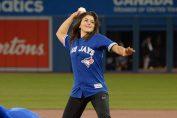 Bianca Andreescu, la baseball