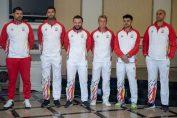 Echipa de Cupa Davis a Romaniei, inaintea tragerii la sorti a meciurilor pentru partida cu Zimbabwe
