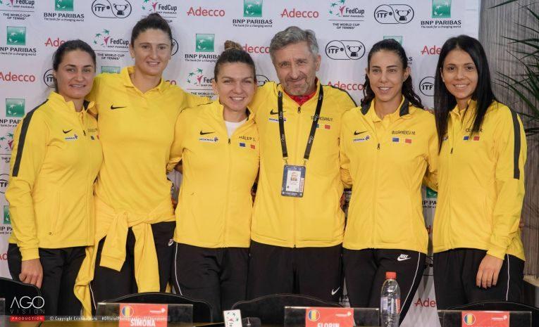 Echipa de Fed Cup a României din semifinala cu Franța