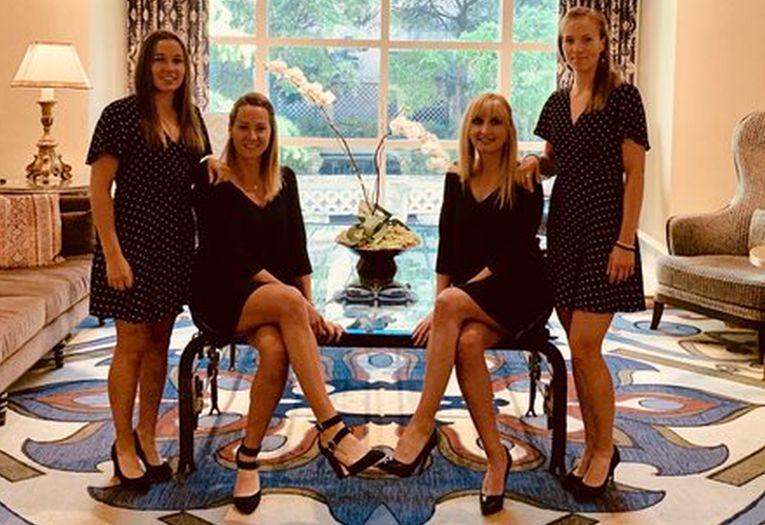 Echipa de Fed Cup a Elveției la dineul oficial