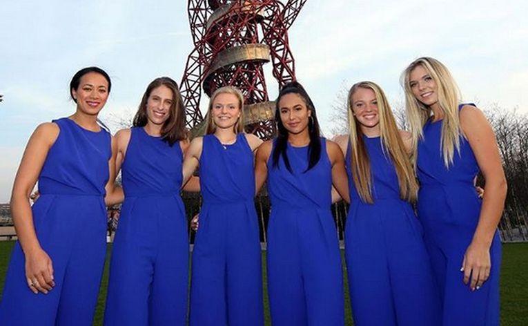 Echipa de Fed Cup a Marii Britanii la dineul oficial