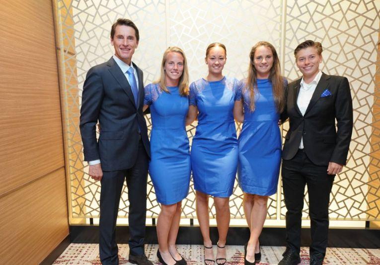 Echipa de Fed Cup a Olandei la dineul oficial