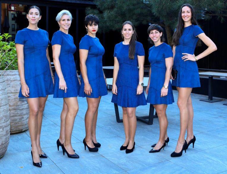 Echipa de Fed Cup a Spaniei la dineul oficial