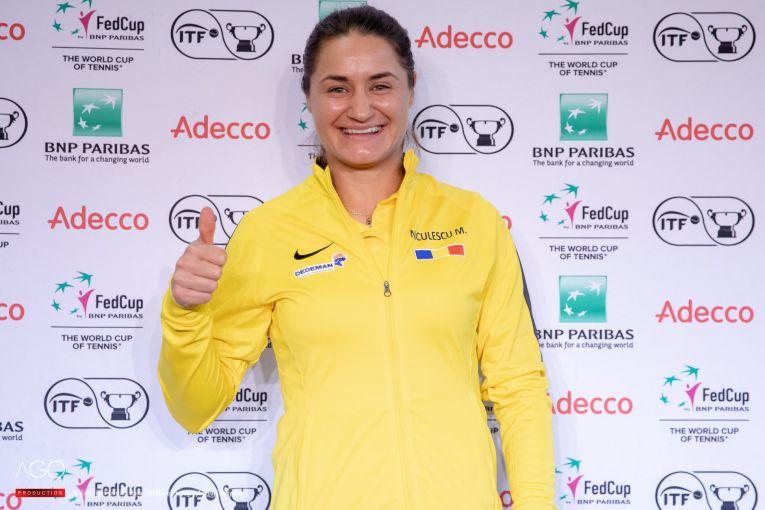 Monica Niculescu Fed Cup Rouen