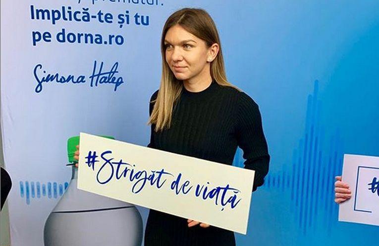 Simona Halep campania Strigat de viata