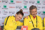Simona Halep si Florin Segarceanu rad la conferinta de presa din Franta