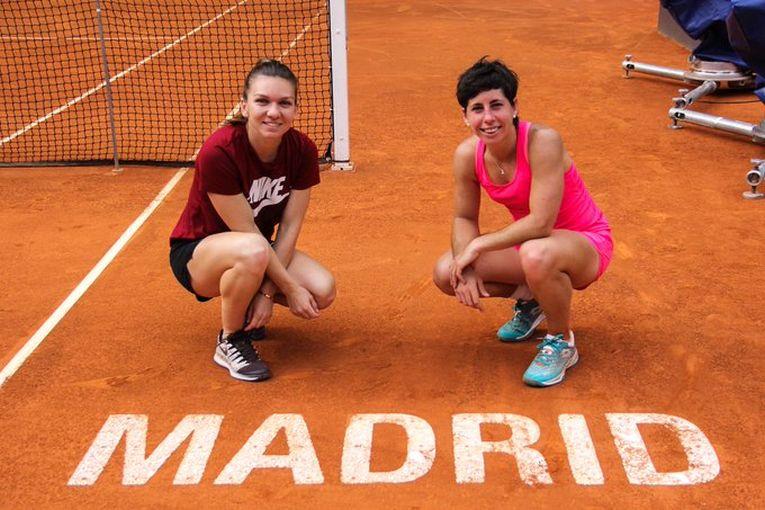 Simona Halep si Carla Suarez Navarro s-au antrenat impreuna la Madrid