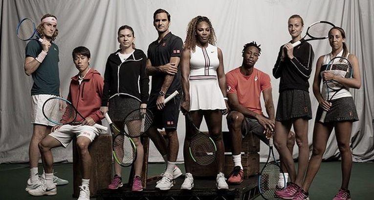 wilson simona halep, roger federer, reclame tenis