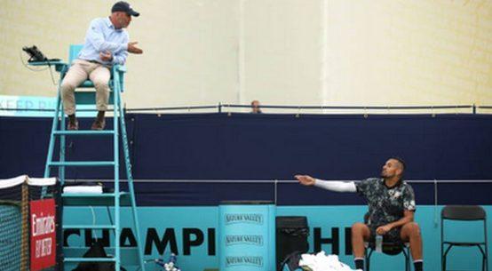 Nick Kyrgios s-a luat și de șapca arbitrului