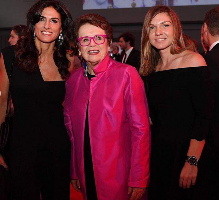 Simona Halep, alături de Billie jean King și de Gabriela Sabatini, la Cina Campionilor Mondiali de la Paris
