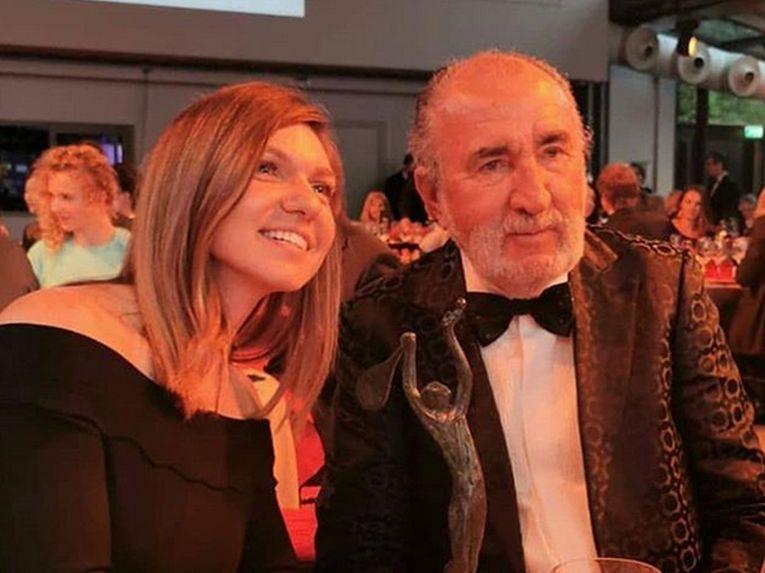 Simona Halep, alături de managerul din umbră, Ion Țiriac, la Cina Campionilor Mondiali de la Paris