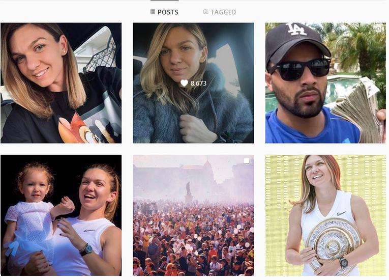 Trei postări in doar 25 de minute au facut hackerii pe contul de Instagram al Simonei Halep