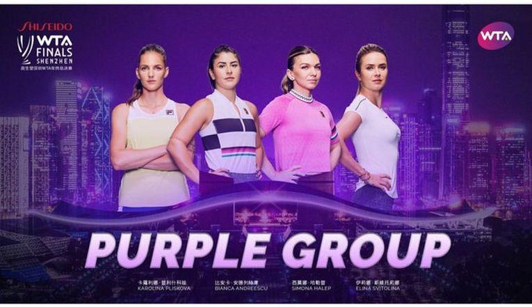 Grupa Violet de la TurneulCampioanelor, din care face parte si Simona Halep
