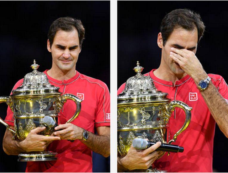Roger Federer a izbucnit în plâns la premierea de la Basel