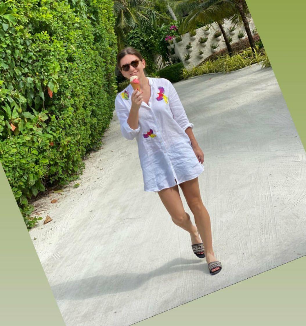 Simona Halep poate mânca atâta înghetată câtă vrea in vacanță