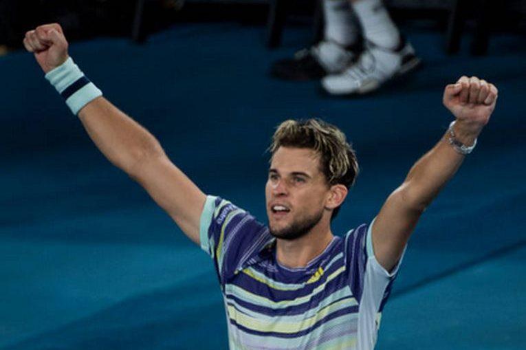 Dominic Thiem și bucuria calificării în finala Australian Open 2020