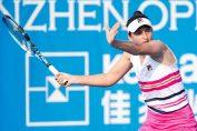 Irina Begu în acțiune în primul tur al calificărilor turneului WTA de la Shenzhen 2020